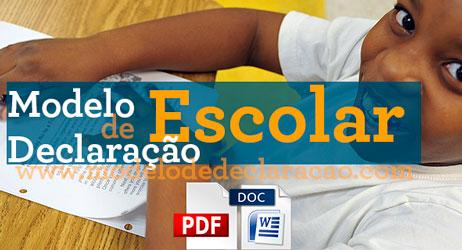 Modelo de Declaração Escolar