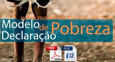Modelo de Declaração de Pobreza Hipossuficiência